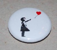 Banksy Balloon Girl Red Heart