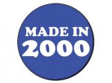 Made in 2000 Blue Button Badge