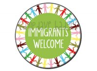 Immigrants Welcome Button Badge