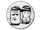 "Sleaford Mods Button badge ""Cans"""