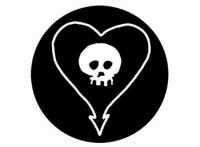 Alkaline Trio Skull Button Badge