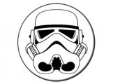 Star Wars Stormtrooper Mask Button Badge