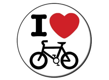 I Love Cycling 085 Campdave Badges 25mm1 Inch Button Badges